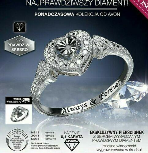 Nuevo Avon Lacey Diamante Anillo de la colección eterno 0.1 Quilates Talla 8 Nuevos Y En Caja