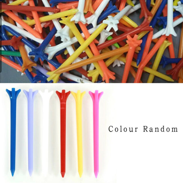 100 Pcs Pack Professional Frictionless Golf Tee Wheat Golf Tees Plastic  70mm HL