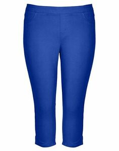 Autograph-BLUE-elastic-waist-easy-Pull-on-stretch-denim-jeans-pants-size-20-NEW