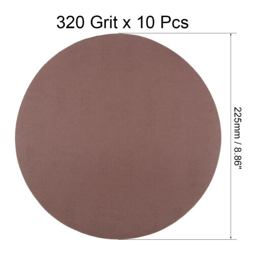 10Pcs 9 Inch 40-1200 Grits Hook and Loop Sanding Disc Flocking Sandpaper for Ran