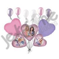 9 Pc Barbie Pegasus Balloon Bouquet Princess Unicorns Happy Birthday Mattel Girl