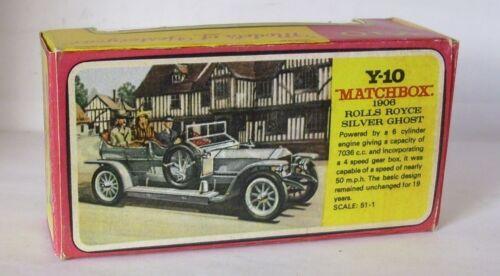 Repro Box Matchbox MOY Nr.10 1906 Rolls Royce Silver Ghost Blisterbox