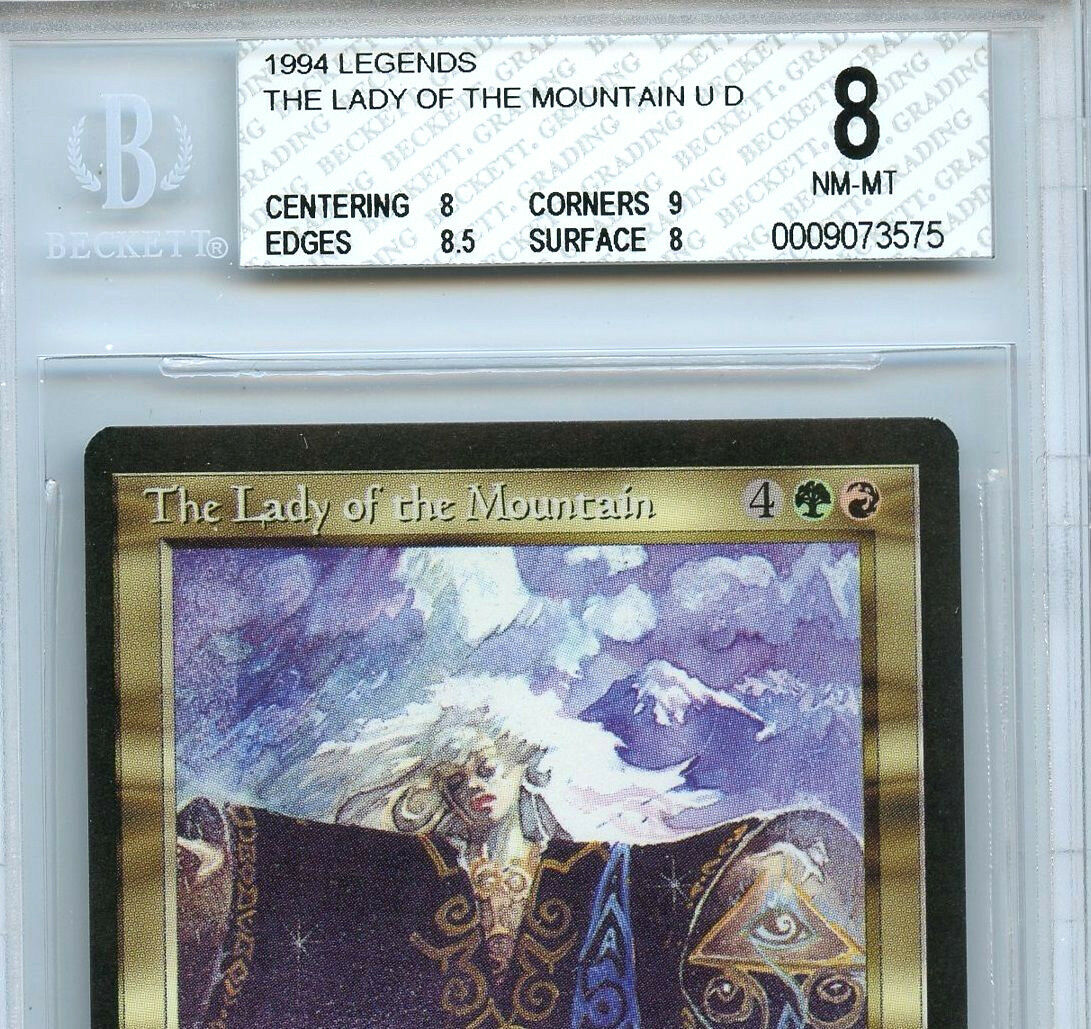 Magic the Gathering WOTC MTG Legends The Lady Lady Lady of the Mountain BGS 8 (8) card 575 9226b9