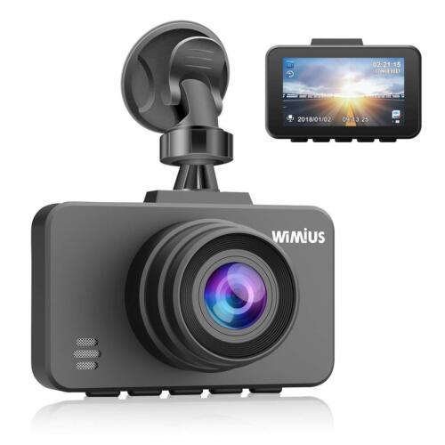 WiMiUS Dash Cam 1080P FHD DVR LCD Screen Car Driving Camera Recorder Dashboard