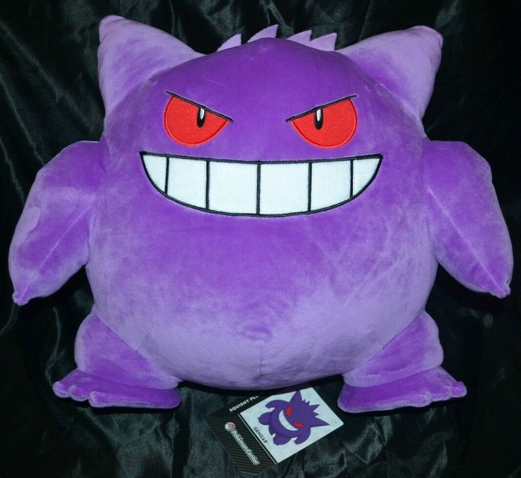 15  Gengar Squishy Plush Large Größe Official Pokemon Center Poke Dolls   094 NEW