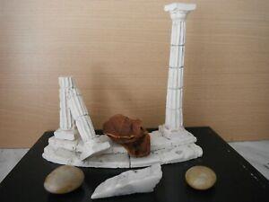 Decor Acquarium Colonne Temple Grec H 19.5 C L 22 Cm X Pierres