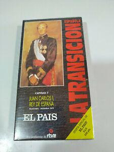 Juan-Carlos-I-Rey-de-Espana-La-transicion-Espanola-RTVE-VHS-Cinta-Tape-Nueva