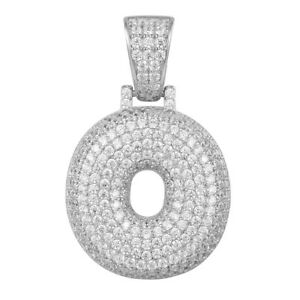 Custom Letter O Pendant Bubble 3d Design Simulated Diamond Iced Out