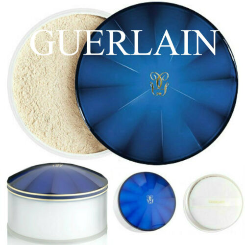 100%AUTHENTIC RARE GUERLAIN SHALIMAR VINTAGE PERFUMED TALCUM DUSTING POWDER&PUFF
