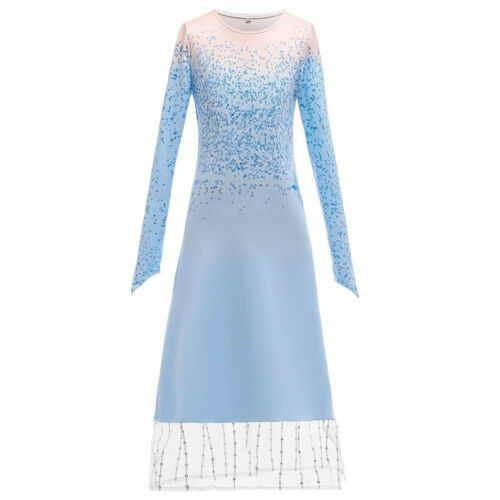 Girls Frozen 2 Elsa Queen Fancy Dress Up Cape Pants Party Cosplay Costume Outfit