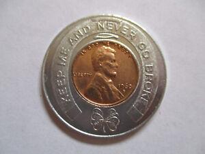1960-Joseph-J-Goldsberg-Los-Angeles-California-CA-Good-Luck-Penny-encased-cent