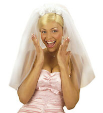 WHITE BRIDAL VEIL HEN STAG NIGHT FANCY DRESS PARTY ZOMBIE CORPSE BRIDE DEAD