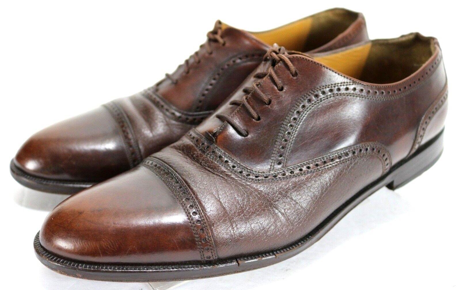Mezlan Florence Men's  Cap-Toe Oxfords Dress shoes Size 10.5 Leather Brown