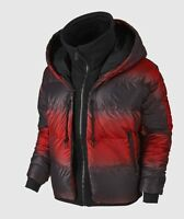 NIKE Uptown 550 Down Cocoon Hooded Full-Zip Jacket Burgundy Red Black Sz S/M New
