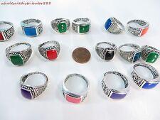 US SELLER bulk lot 15pcs wholesale  fashion costume rings jewelry faux stone