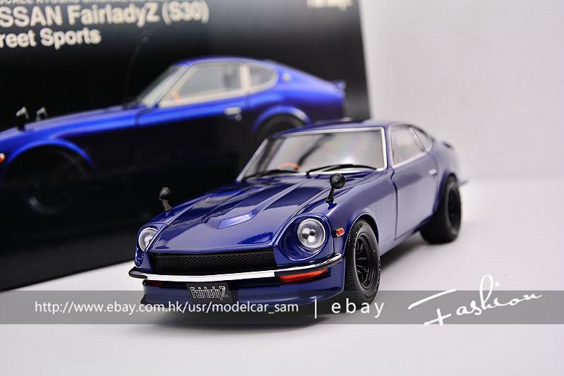 Sconto del 40% Kyosho 1 18 Nissan Fairlady Fairlady Fairlady Z Street Sports blu S30 Devil Z  scelte con prezzo basso