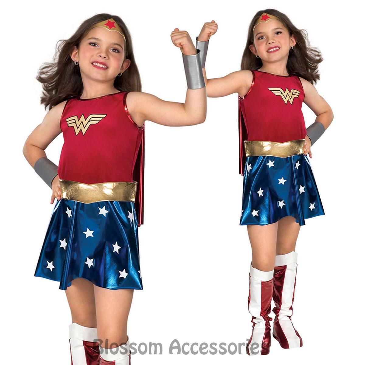 Wonder Woman Deluxe Super Hero Fancy Dress Girl Book Week Child Costume