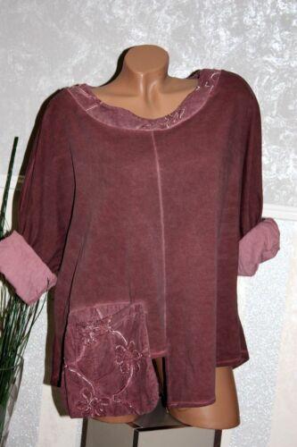 It Tunika Shirt ALTROSA Tasche Blume Überwurf Shirt Look Langarm 50 52 54 //225