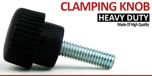 M6 x 15mm Male Thread Plastic Star Clamping Bolt Knob Screw On Machinery Handle