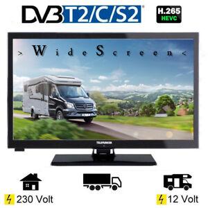 telefunken l24h274 led tv 24 zoll tripletuner dvb c t2 s2 12 volt 230v wohnmobil ebay