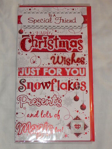 FRIEND CHRISTMAS CARD TO A SPECIAL FRIEND CUTE TRADITIONAL SOMEONE SPECIAL