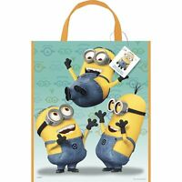(3 Pack) Large Despicable Me Minion Halloween Candy Or Party Favor Bag 13 X 11