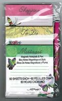 Ed Hardy Pack Of 3 Memo Pads Plus Pen Butterfly And Rose