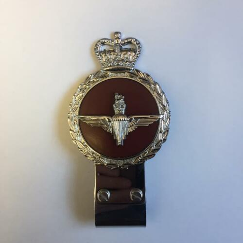 Gaunt style Chromed Brass Car Badge - THE PARACHUTE REGIMENT - B4.005