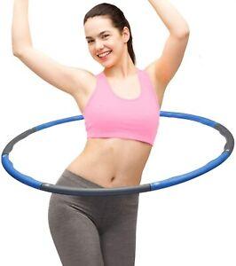 8 Teile Hula Hoop Fitness Reifen Gymnastik Hüftmassage Schaumstoff Bauchtrain
