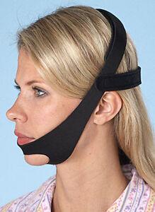 CPAP Chin Strap Belt Restraint Black Support for CPAP sleep apnea Anti Snore