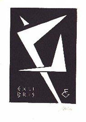 100% QualitäT Exlibris X3 Linolschnitt - Abstrakt - Franz Grickschat Nr 169 Signiert Bookplate Jahre Lang StöRungsfreien Service GewäHrleisten