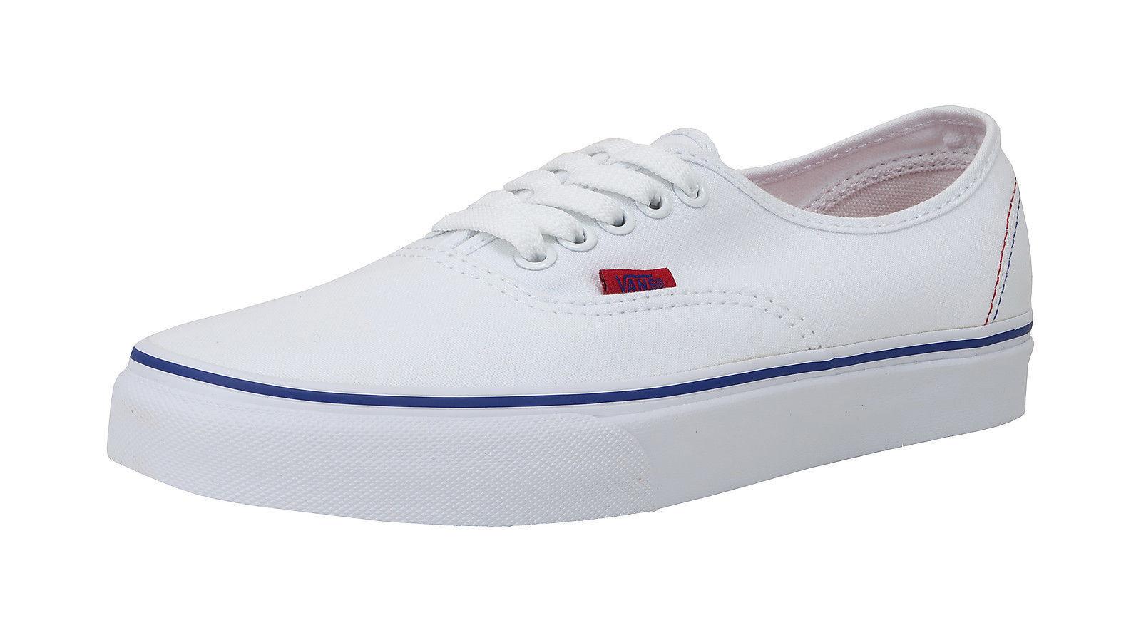 Vans Men Women Adult shoes Authentic Solstice 2016 True White Red bluee