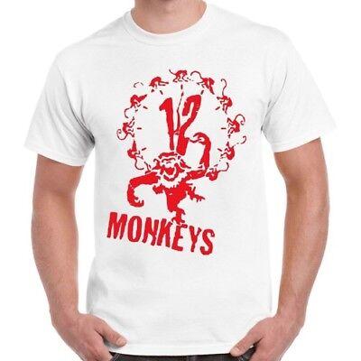 12 Scimmie Graffiti Serie Film T Shirt Retrò Vintage 407-mostra Il Titolo Originale