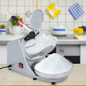 Ice Shaver Machine Snow Cone Maker Shaved Ice 143 lbs Electric Crusher Shaving