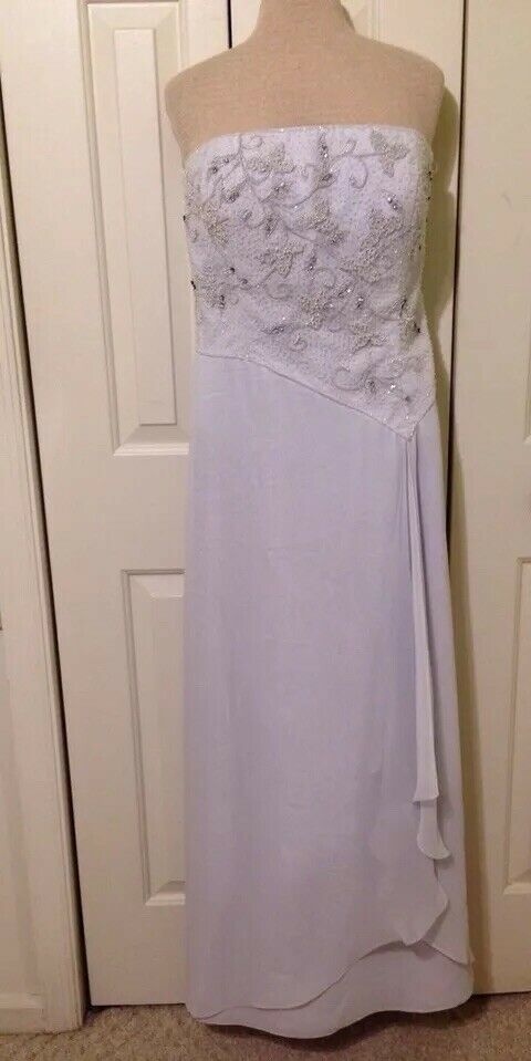 Beaded Prom Formal Evening Womens Dress size 14