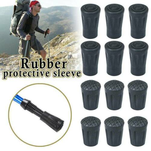 10xs Spare Replacement Walking Stick Trekking Hiking Rubber Ends Ferrule UK