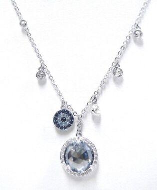 Swarovski Lucy Round Rhodium-Plated Necklace