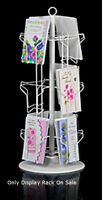 12-pocket White Countertop Greeting Card Display Spinner Rack 29h W/ 12 Dia
