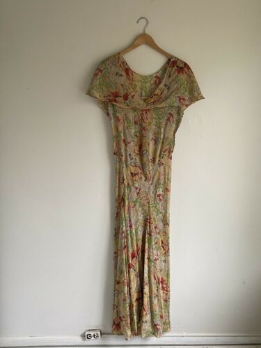 Vintage 1930s Floral Chiffon Dress