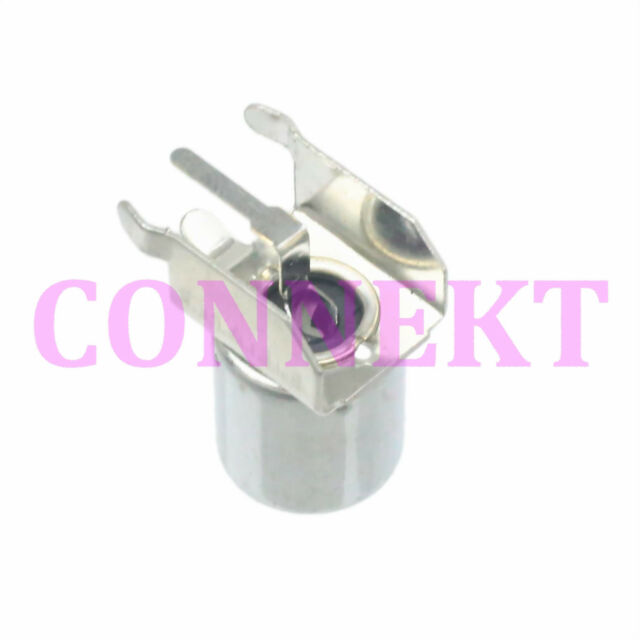 2pcs IEC PAL DVB-T TV 9.5mm female right angle thru hole PCB mount RF connector