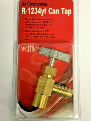 "Brass Dispensing Valve 1//2/"" ACME LHT Refrigerant R1234yf Can Taper FJC Weitron"