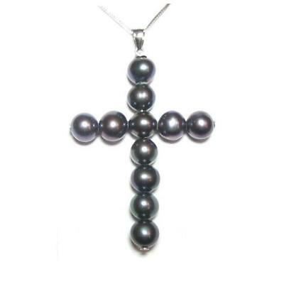 7-8mm Genuine AAA White Pearl 925 Sterling Silver Pendant