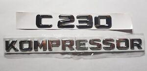 C230-KOMPRESSOR-C-230-Trunk-Emblem-Badge-logo-Mercedes-MB-embleme-du-tronc