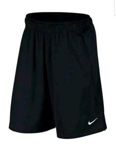 NEW NIKE DRY HYBRID BLACK//WHT BASKETBALL SHORTS  833265-014 Mens Size Medium