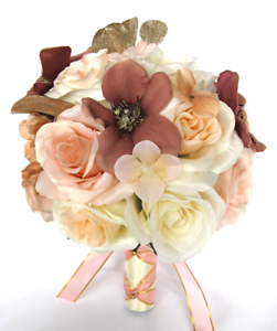 Image Is Loading Wedding Bouquets 17 Piece Silk Flower Bridal Rose