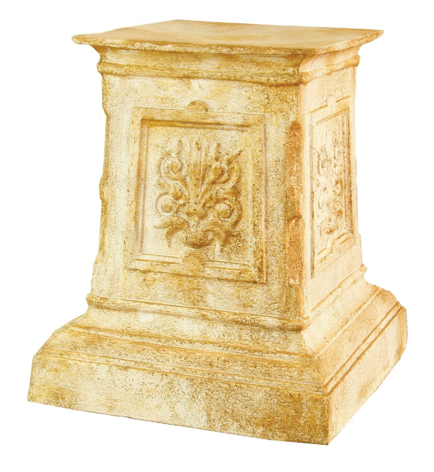 English Garden Pedestal For Urn Statue Sculpture- Fiberstone by Orlandi Orlandi Orlandi FS8218 0901e4