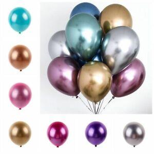 10Pcs-12-034-Metallic-Chrome-Ballons-bouquet-de-fete-anniversaire-mariage-Decoration-Brillant