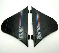 2 GI Joe PHANTOM X-19 Jet Plane 1988 Tail Fins L+R Vintage Original Parts Lot