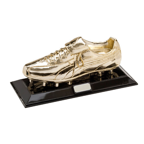 golden Boot - Full Size Football Boot Resin Trophies FREE Engraving