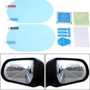 2*Regenfest Anti-Fog Auto Rückspiegel Film Aufkleber Schutz-folie Regen Schild